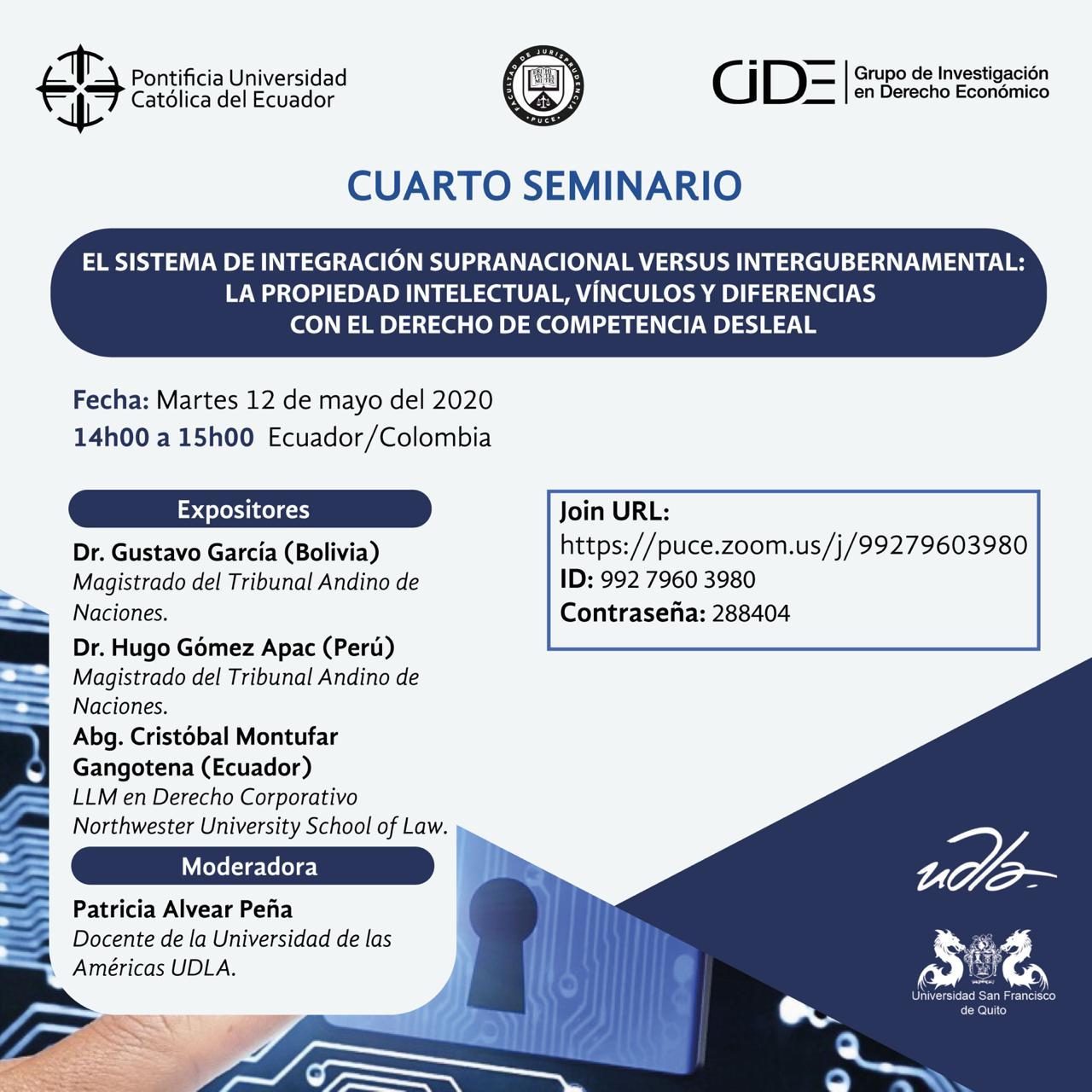 Seminario: Sistema de integración supranacional versus intergubernamental.